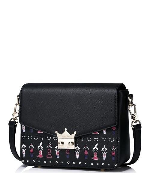 0a092bb3528a4 Torebka Just Star Dziewczęca torebka z wymiennym górnym elementem Czarna
