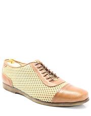 cfeb0b38f2298 Półbuty męskie 262R BRĄZ-BEŻ - Stylowe buty męskie casual ze skóry -  Tymoteo.