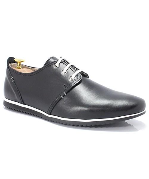 c677bdb7a5e66 Półbuty męskie Kent 209 CZARNE - Męskie wygodne buty ze skóry