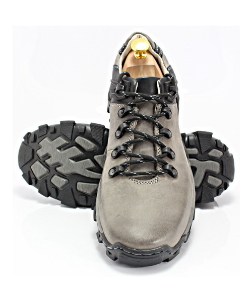 85871e6e2e1d0 Trapery męskie Kent 116 SZARE - Trekkingowe buty męskie 100% skórzane