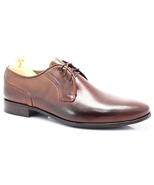 Lavaggio 1010 BRĄZ Polskie wizytowe buty, skóra 1010 BRĄZ