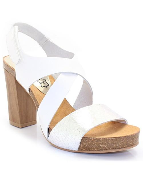 3d3468c14249b Mariettas 7800 BIAŁE-SREBRNE - Hiszpańskie buty, sandały - Butyk.pl