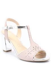 Sandały 9-28305-28 ROSE - Eleganckie sandały na słupku - Tymoteo.pl Caprice