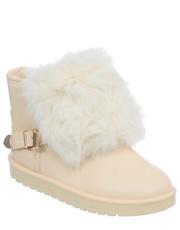Śniegowce NISKIE ŚNIEGOWCE DAMSKIE BEŻOWE - FamilyShoes.pl Family Shoes