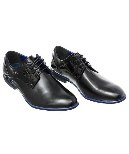 a902a95823af9 Family Shoes ELEGANCKIE PÓŁBUTY MĘSKIE CZARNE, półbuty męskie - Butyk.pl