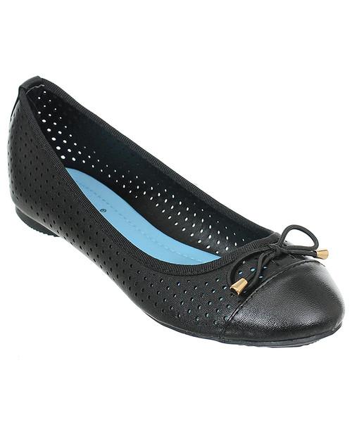 8c6c6b07 Family Shoes Ażurowe baleriny damskie czarne, balerinki - Butyk.pl