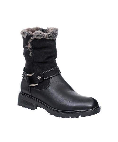 c47c74ae21253 Family Shoes OCIEPLANE BOTKI DAMSKIE CZARNE, botki - Butyk.pl