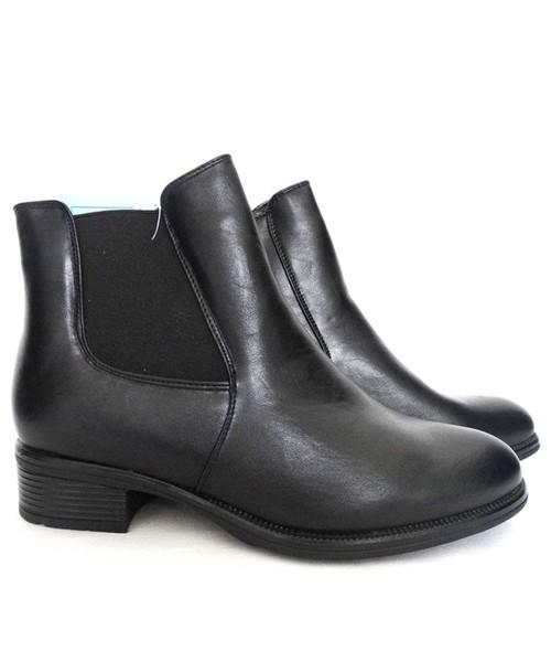 3d8022e9fbde1 Family Shoes Botki klasyczne sztyblety ocieplane czarne, botki ...