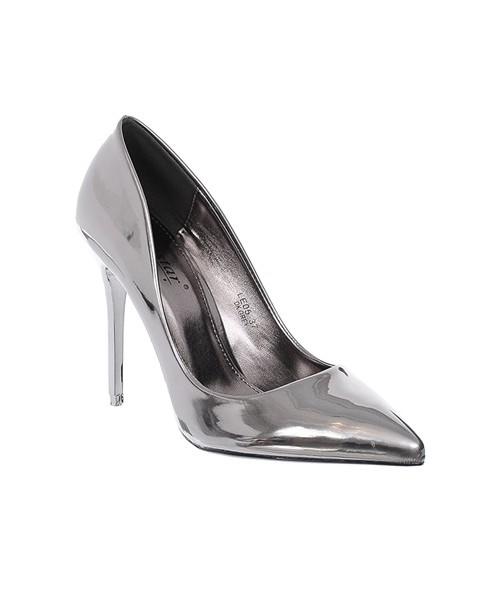 cbec619ee831 Czółenka na szpilce Family Shoes Srebrne szpilki lakierowane