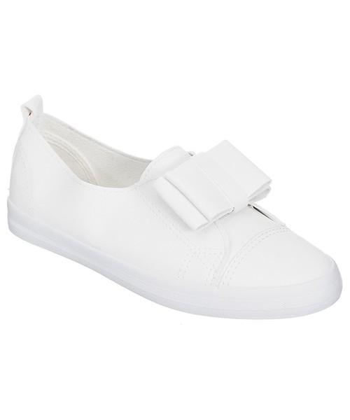 Family Shoes Trampki slip on białe, trampki damskie Butyk.pl
