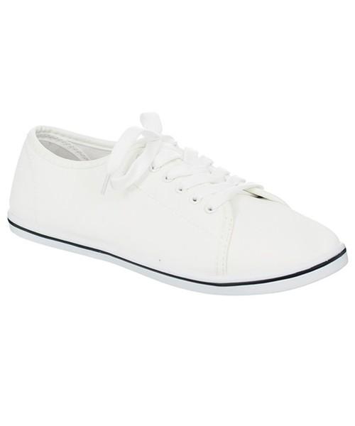 d1859f86beec1 Family Shoes BIAŁE TRAMPKI EKOSKÓRA, trampki damskie - Butyk.pl