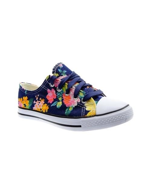 sportowe buty dziecięce New Hvr Trampki dziewczęce kwiaty