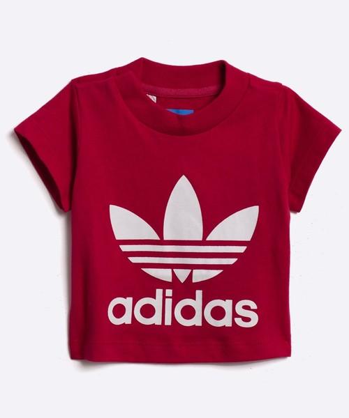 bluzka Adidas Originals adidas Originals T shirt dziecięcy Trefoil 62 116 cm S95989