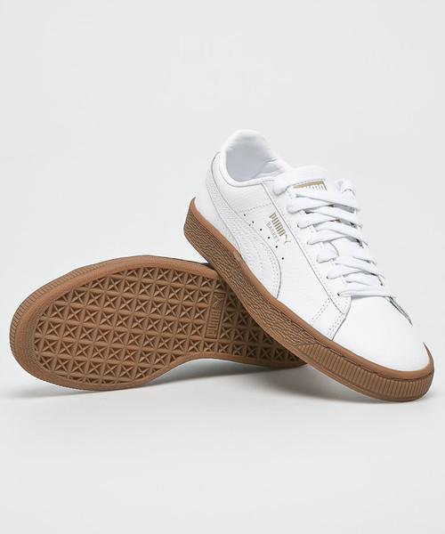sportowe buty dziecięce Puma Buty dziecięce Basket Classic Gum 366668