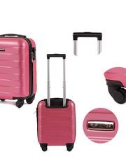 3a07e656f68c7 Walizka Bardzo mała kabinowa walizka 401 XS Różowa - kemer.pl Kemer