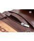 Portfel VOOC Skórzany portfel męski KEMER  PPM4 Brązowy