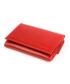 Portfel VOOC Mały skórzany portfel damski KEMER  PPD4 Czerwony