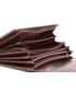 Portfel VOOC Duży skórzany portfel damski KEMER  PPD5 Brązowy