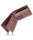 Portfel VOOC Skórzany portfel męski KEMER  PPM6 Brązowy