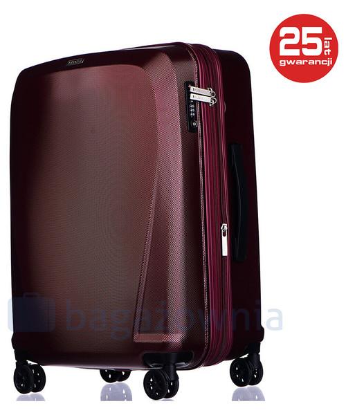 9956a54c1f792 Puccini Średnia walizka LONDON PC019B 3 Czerwona, walizka - Butyk.pl