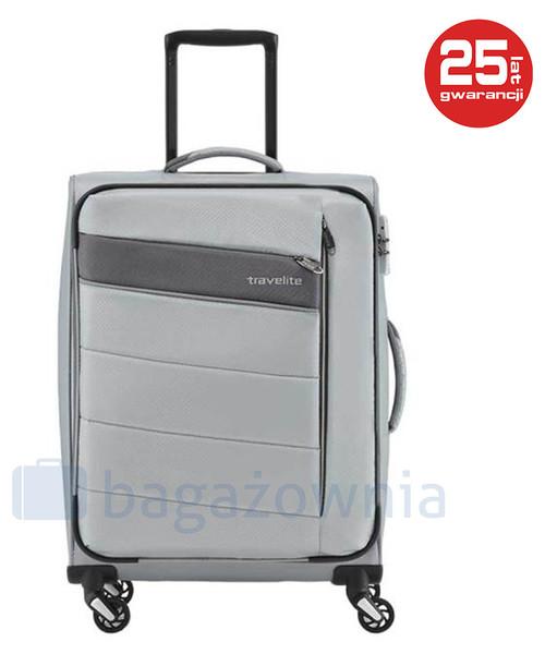 6ae81a718ca9b Travelite Mała kabinowa walizka KITE 89947-56 Srebrna, walizka ...