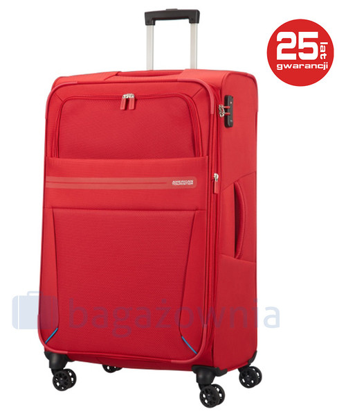 25771ff9b1ccf Walizka At By Samsonite Duża walizka SAMSONITE AT SUMMER VOYAGER 85462  Czerwona