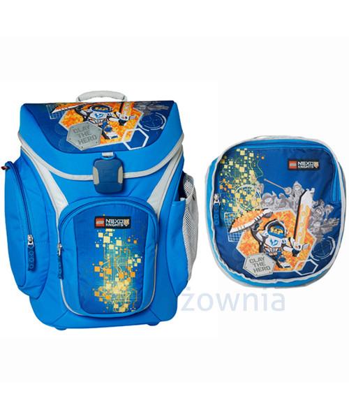 e010d36562dfd Plecak dziecięcy Lego Plecak szkolny z doczepianą torba Nexo Knights  20018-1708 Niebieskie