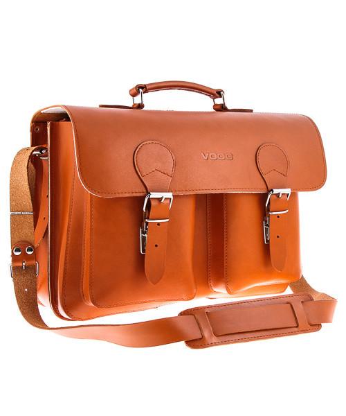 c128093c91d43 Torba na laptopa VOOC BIG torba 3w1 na laptopa Vintage P36 Koniak