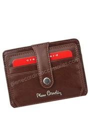 bdb1ac471254d Etui pokrowiec saszetka Pierre CardinEtui na karty   wizytówki skórzane  YS520.10 PC02 Cognac - bagazownia.pl