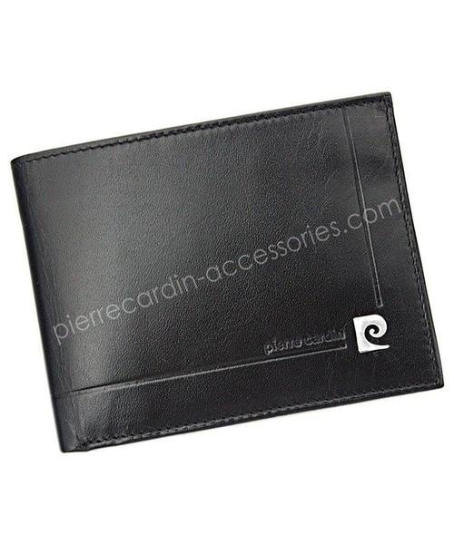 Pierre Cardin Portfel męski skÓrzany YS507.1 8806 Czarny, portfel Akcesoria UZ UZ-560% ZNIŻKI