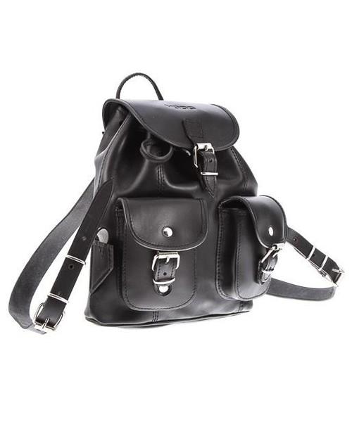 03e1b9a9ac492 plecak VOOC Mały plecak skórzany Vintage P2 czarny