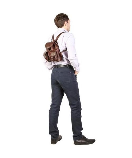 92a705dbf73e0 Plecak VOOC Mały plecak skórzany Vintage P2 czarny