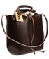 Shopper bag VOOC Modna torba, worek  Vintage P6 brąz