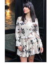 3c247b3375 Sukienka BlackorwhiteSukienka beżowa w kwiaty - BlackOrWhite.pl