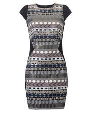 sukienka Blackorwhite - Sukienka z żakardu w wersji mini