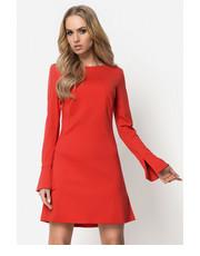 sukienka Blackorwhite - Czerwona sukienka z dzianiny