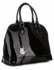 51d4c46ad8ffd EVANGARDA Czarna lakierowana torebka damska z dopinanymi rączkami ...