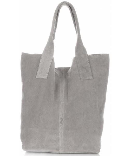 9b8e356a21d6e Shopper bag Vittoria Gotti Torebki Skórzane typu ShopperBag XL Włoskiej  firmy wykonane z Wysokiej Jakości Zamszu