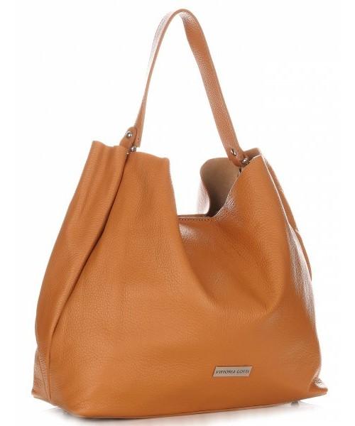 be8050f00e611 Shopper bag Vittoria Gotti Torebka ze Skóry Naturalnej typu ShopperBag Ruda