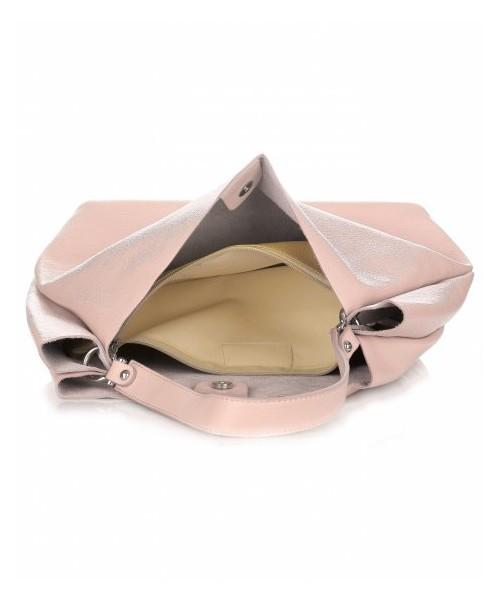 1052839a551f5 Shopper bag Vittoria Gotti Włoskie Torebki Skórzane ShopperBag XL firmy  Pudrowy Róż