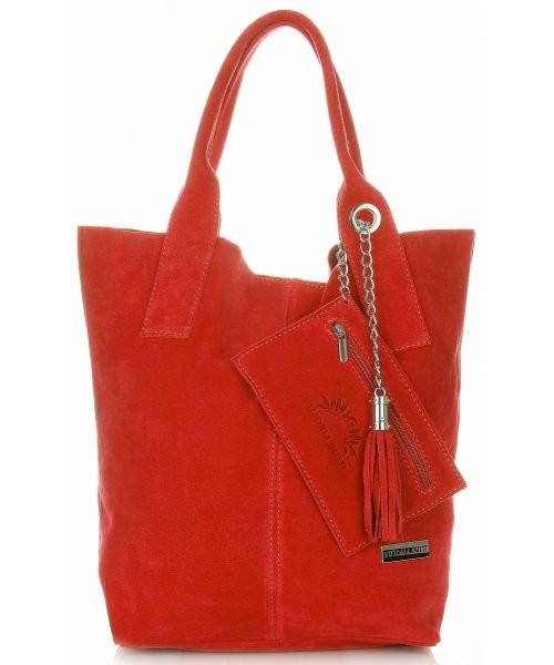 b16f992390082 Shopper bag Vittoria Gotti Torebki Skórzane typu ShopperBag XL Włoskiej  firmy wykonane z Wysokiej Jakości Zamszu