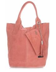 c048c11bf11f2 Shopper bag Vittoria GottiTorebki Skórzane typu ShopperBag XL Włoskiej firmy  wykonane z Wysokiej Jakości Zamszu Naturalnego Łososiowa - panitorbalska.pl