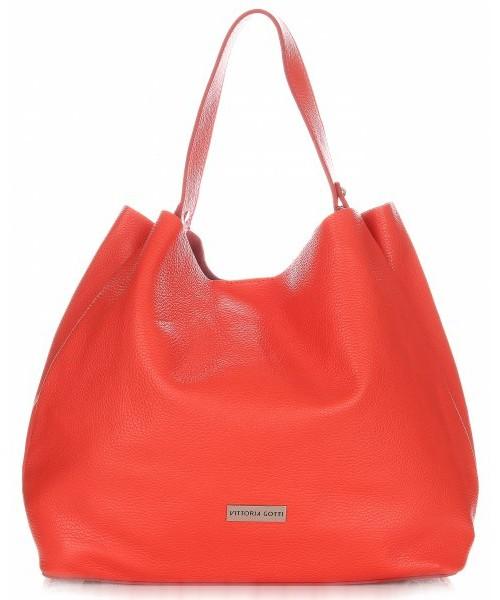 d98b0d2b32686 Shopper bag Vittoria Gotti Torebki Skórzane ShopperBag Czerwona