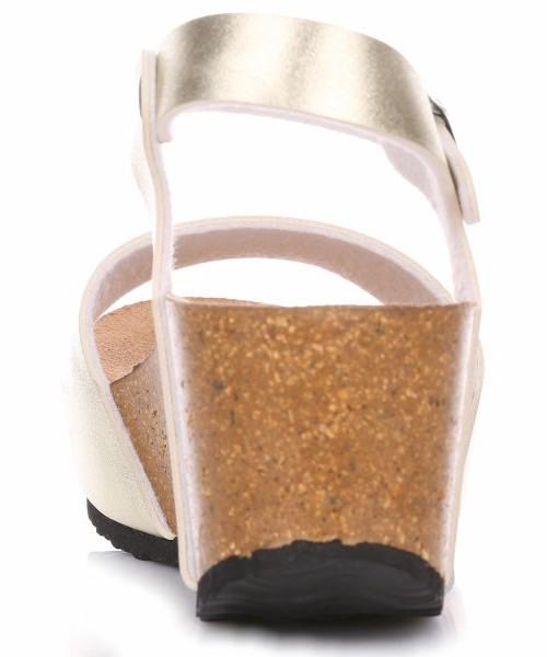 53d4da18c2f3a9 Ideal Shoes Koturny Damskie Złote, sandały - Butyk.pl