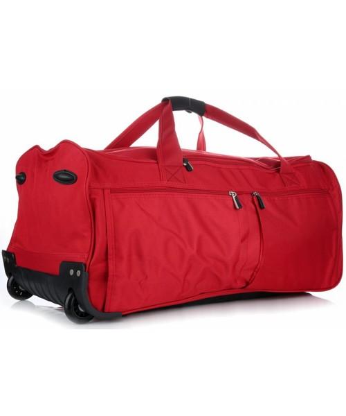 33a361187aa7e Torba podróżna David Jones Torby Podróżne XL Na Kółkach ze Stelażem Duża  Solida i Wytrzymała Czerwona
