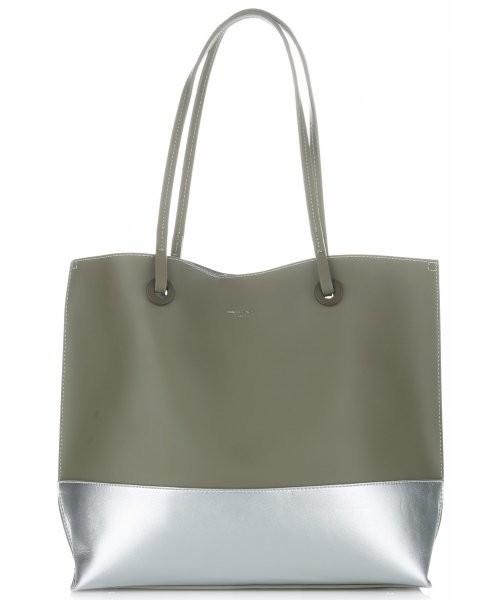 bc629099d31c3 Shopper bag David Jones Duże Torebki Damskie Shopper XL z kosmetyczką firmy  Khaki