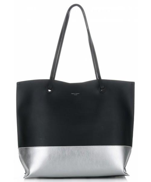 97f38ba1fd7320 Shopper bag David Jones Duże Torebki Damskie ShopperBag XL z kosmetyczką  firmy Czarna