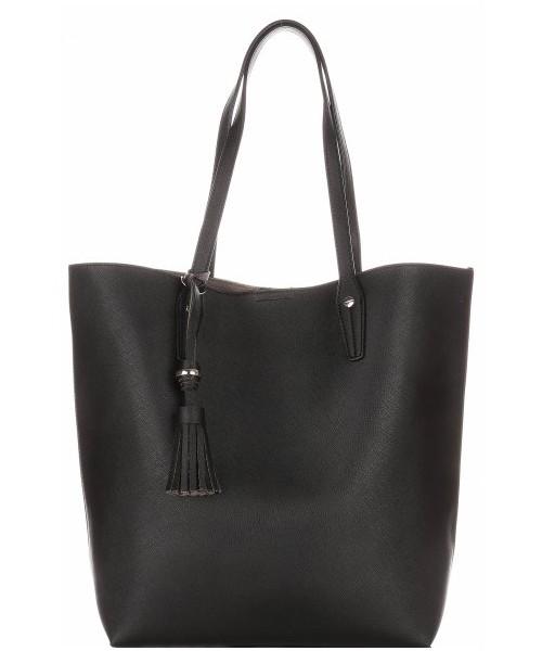 41a141cbcf588 Shopper bag David Jones Duża Torba Damska Typu Shopper Bag XXL z Kosmetyczką  Czarna