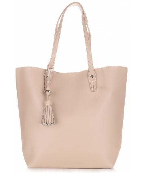 bc8aed18ed358 Shopper bag David Jones Duża Torba Damska Typu Shopper Bag XXL z Kosmetyczką  Ziemista