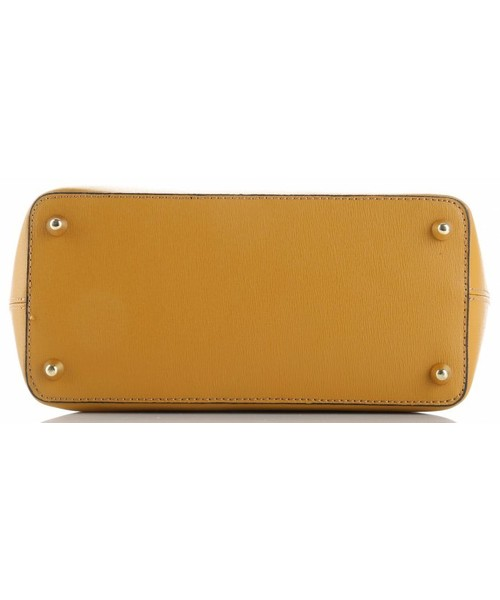 563634fc00466 Torebka skórzana Genuine Leather Klasyczne Torebki Skórzane na każdą okazję  firmy długie rączki Musztardowe